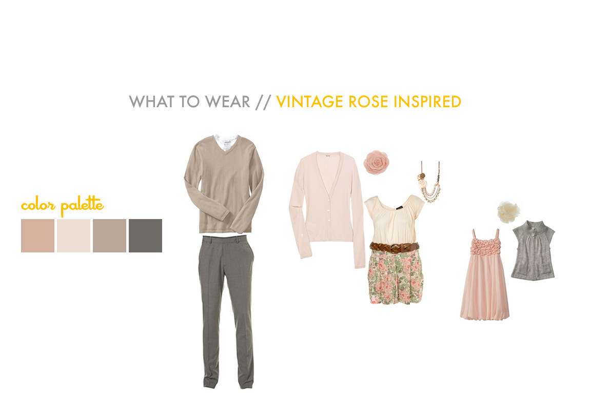 Vintage Clothing Ideas For Family Portraits