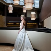 indoor bridal portrait sheraton hotel