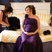 pregnant bridesmaid photo