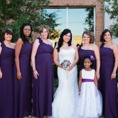 bridal party group pose photo idea