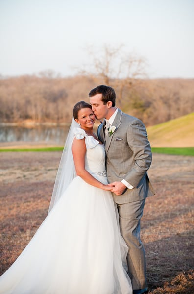 Bride and groom portrait from first look on wedding day at The Milestone in Texas.