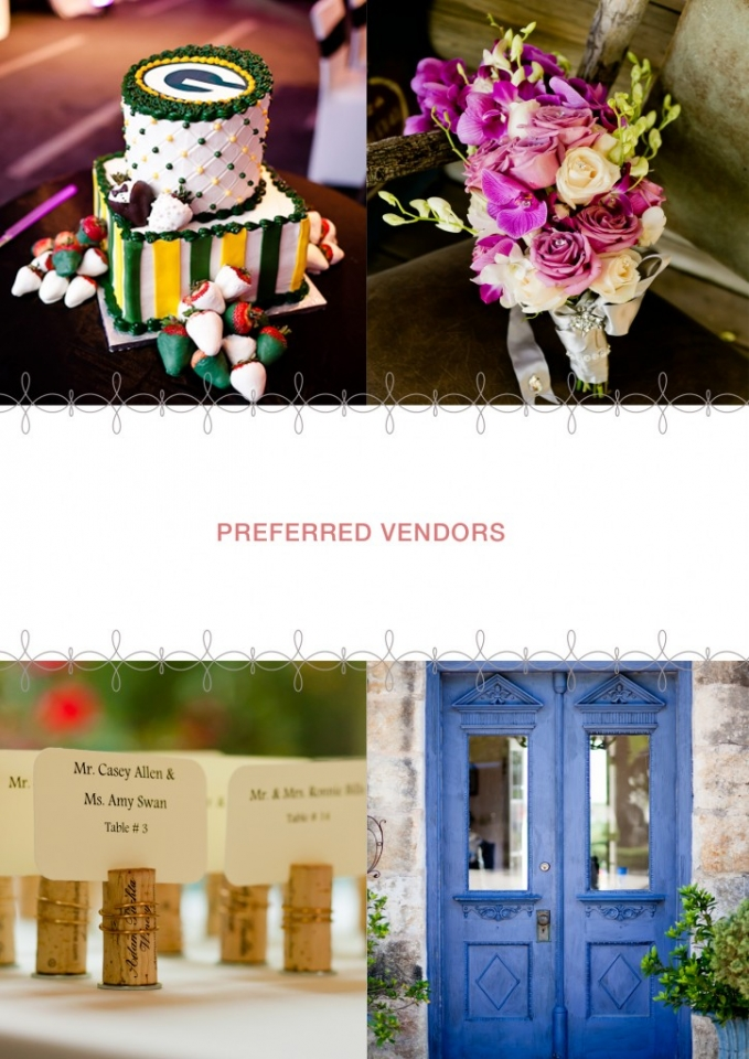 Preferred wedding vendors in Dallas and Fort Worth Texas