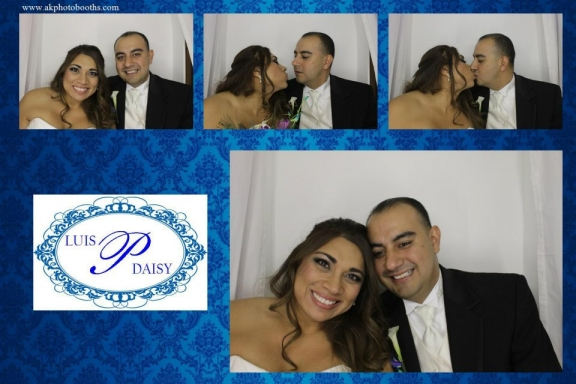 photo booth picture from dallas wedding at the colleyville center