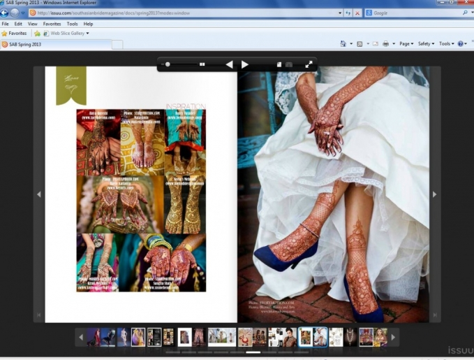 henna wedding photo published nationally in south asian bride magazine by dallas wedding photographer monica salazar photography