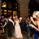 fun wedding bubble exit from the texas rangers ballpark