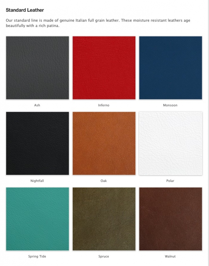 standard leather album cover colors