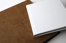 leather wedding albums by millers lab