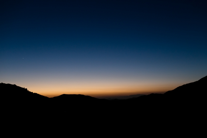 Temecula California sunset in the mountains for a Southern California destination wedding.