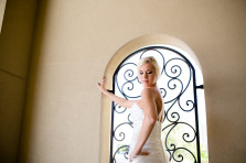 Angel's bridal portrait session at The Chapel at Ana Villa in the Colony, Texas. Dallas wedding photographer Monica Salazar Photography