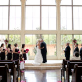 chapel at ana villa wedding ceremony and reception in the colony texas