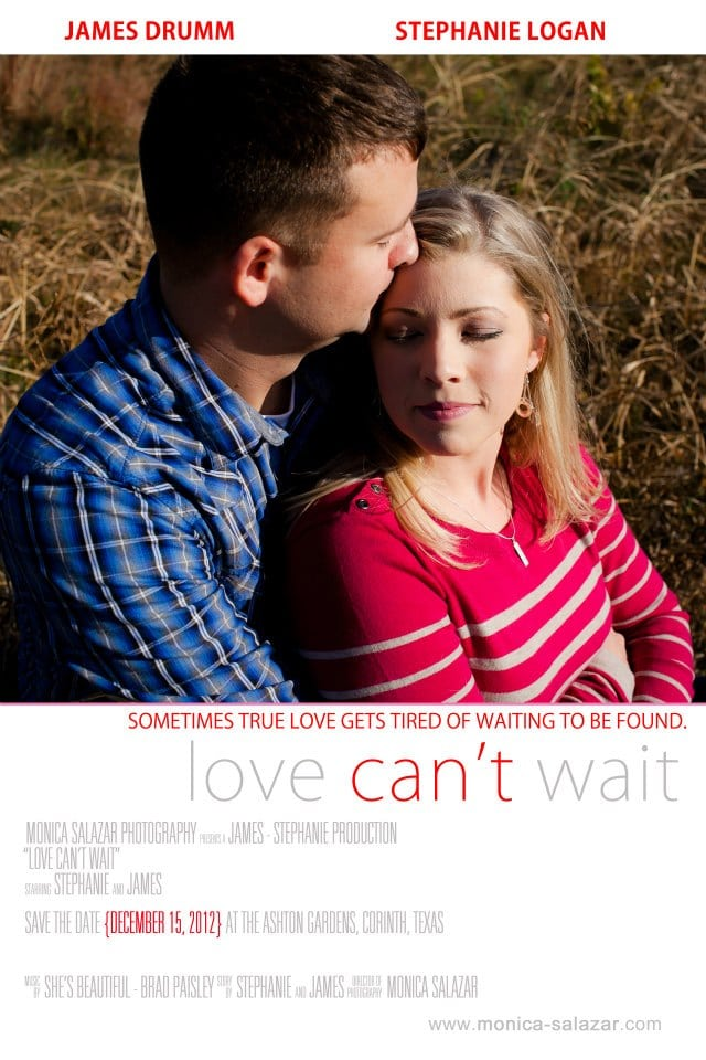 movie poster save the date or wedding day photos by dallas wedding photographer