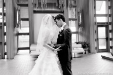 First look wedding photos at Marty Leonard Chapel in Fort Worth TX