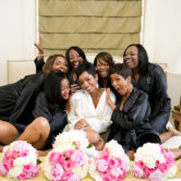 Tamron Hall a bridesmaid with Connie at her Fort Worth Texas wedding