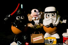 Star Wars May the 4th be with you and potato head photo shoot with disney props