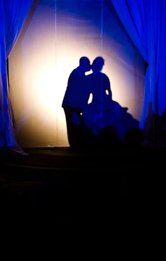 quinceanera photograph of daughter and dad in silhouette dance