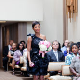 Tamron Hall at wedding in Fort Worth Texas at the Marty Leonard Chapel