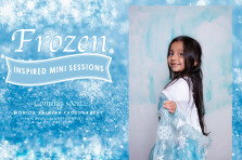 Disney Frozen themed mini portrait and photo sessions by dallas photographer