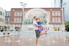 downtown fort worth engagement photo session