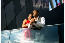 downtown dallas engagement photography with james bond 007 theme