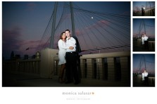 downtown dallas engagement photography with skyline photos