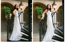 bridal portraits at piazza in the village in colleyville texas by wedding photographer