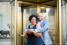 Annisha + Jeff's Fort Worth Engagement Photos in Sundance Square