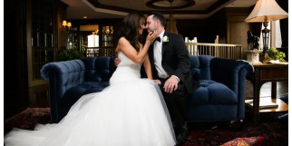 Nadia and Roxie's Dallas Petroleum Club Wedding by Dallas wedding photographer Monica Salazar.Ceremony in Chase Tower, Sky Lobby reception.