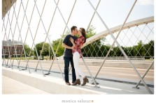 engagement photos on 7th street bridge in fort worth texas with fort worth club wedding