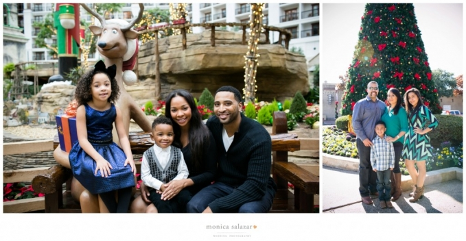 Christmas and family portraits by Dallas wedding photographer and family photo of acee law, acey law nba basketball player