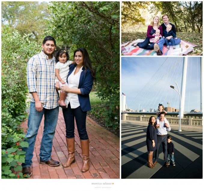 family portraits sessions in outdoor gardens and downtown dallas by dallas fort worth wedding photographer