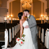 Wedding day at Piazza in the Village Colleyville bride and groom portrait by dallas fort worth wedding photographer in the chapel