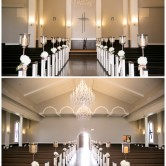chapel and ceremony room at piazza on the green wedding venue mckinney texas