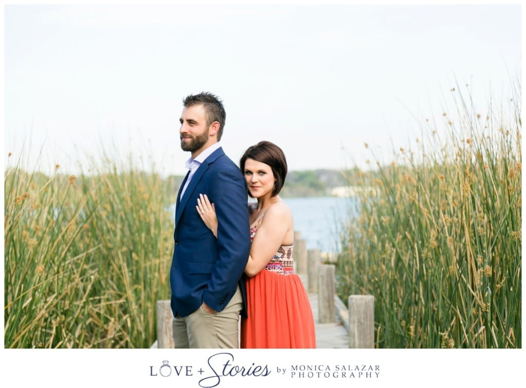 white rock lake engagement pictures in dallas texas