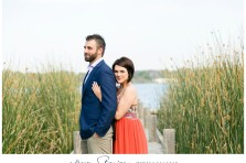 Dallas engagement photographer captured surprise proposal and engagement photos at White Rock Lake in Dallas, TX. Engagement photos at the pier on the lake. Free engagement session giveaway photos and love story video film.