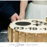 fun wedding cake photos