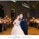 sparkler wedding exit at texas rangers wedding