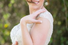 bridal portraits outdoors in fort worth texas