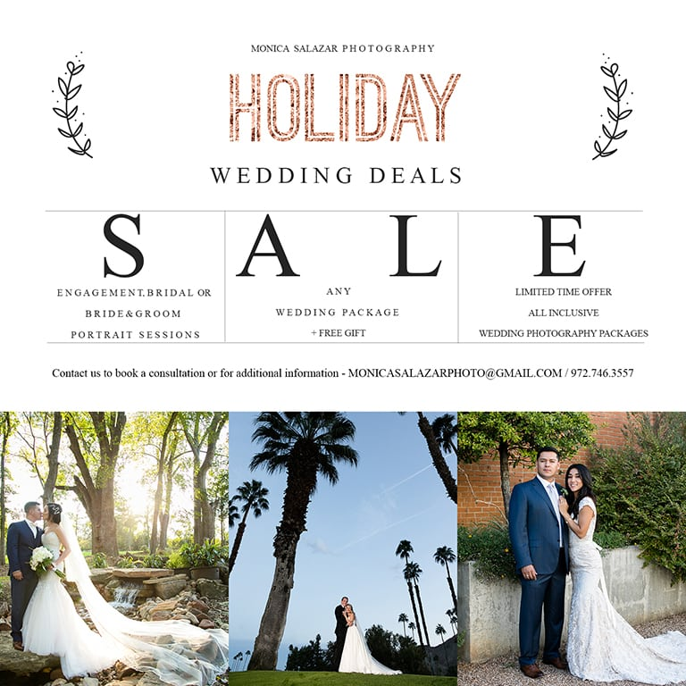 wedding photography special offers for the holidays, black friday, cyber monday and christmas