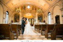 Bella Donna Chapel wedding with romantic portrait of the bride and groom.