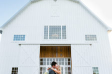 Beautiful wedding and bride and groom at White Sparrow Barn in Quinlan, TX.
