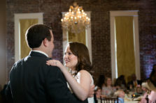 Bride and groom's first dance at the Grand Hotel and Ballroom in McKinney Texas.