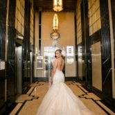 The Carlisle Room wedding venue bridal session portraits with elegant and great gatsby theme