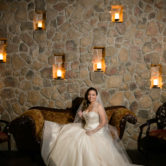 Elegant indoor bridal portraits