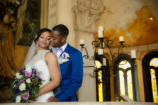 Bride and groom portraits at the Bella Donna Chapel in McKinney, TX.