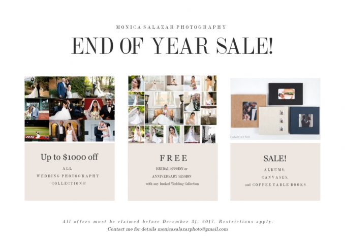 Dallas wedding photography pricing packages for end of the year sale.